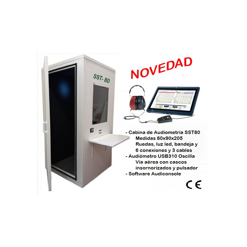 Cabina audiológica y audiómetro pc
